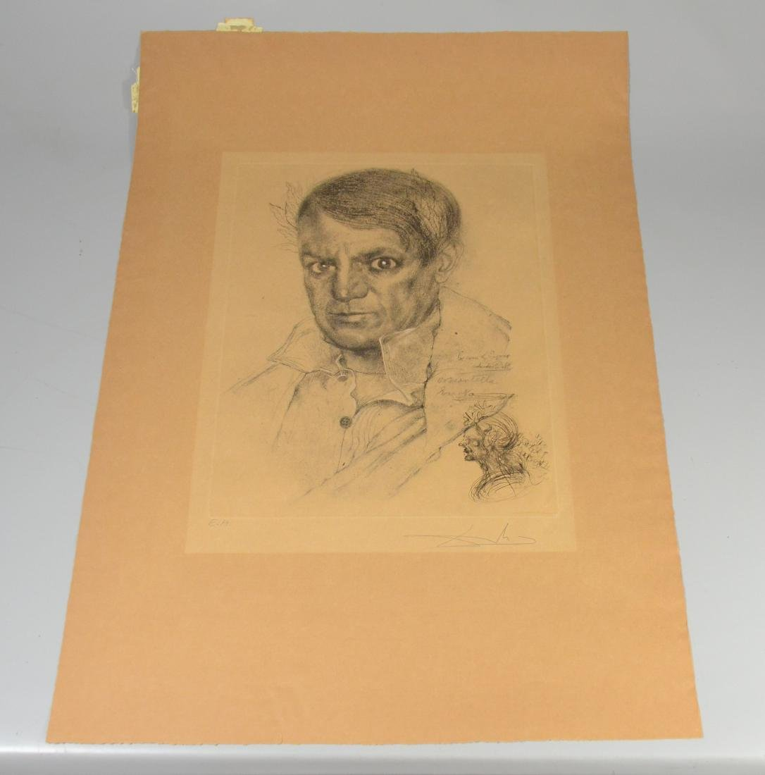 Salvador Dali, etching, self portrait as Napoleon - 6