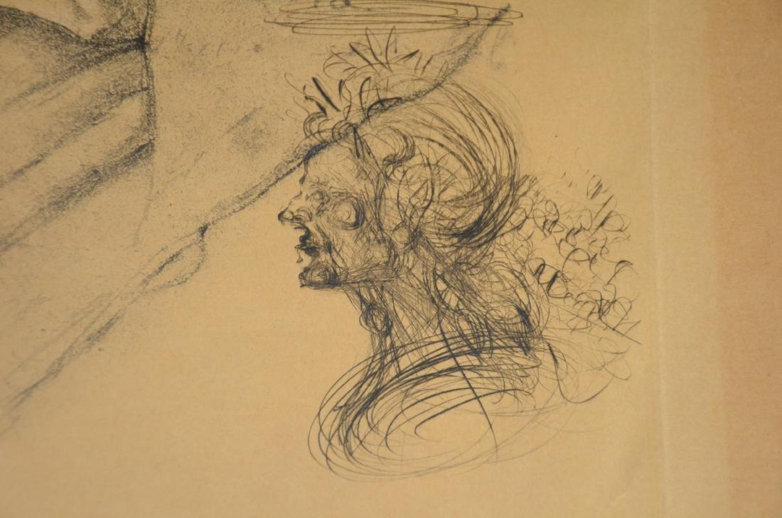 Salvador Dali, etching, self portrait as Napoleon - 9