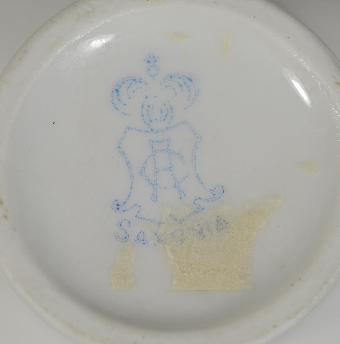 Potschappel porcelain 'Deutsche Blumen' 2 bottle stand - 4