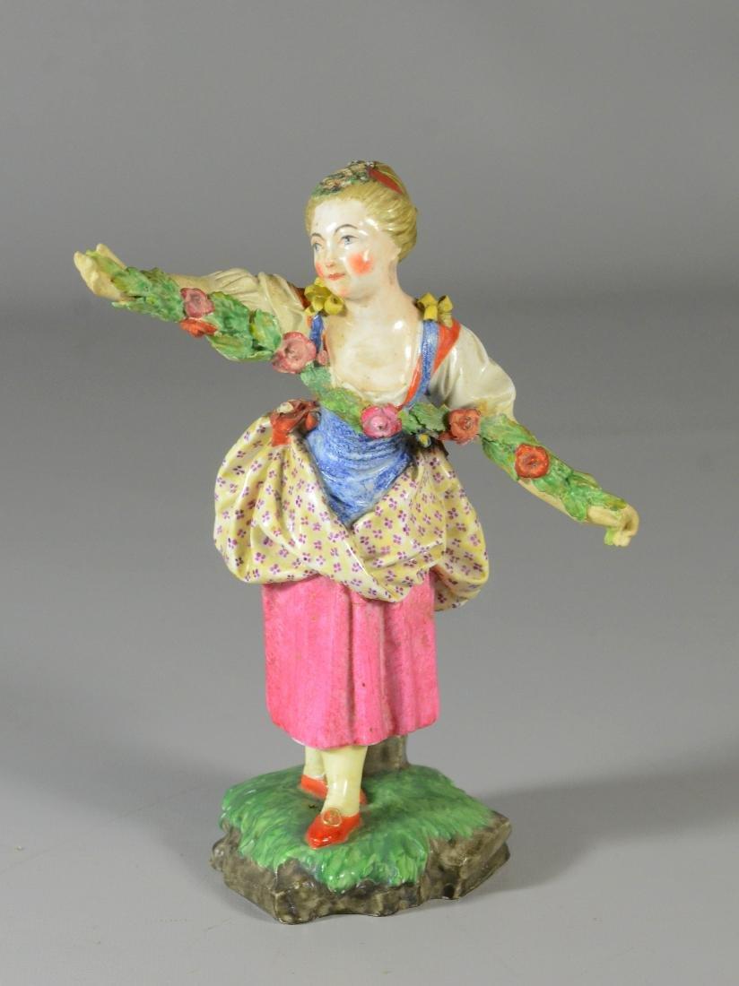 Hoechst-type porcelain figure of 'Flora', 19th C