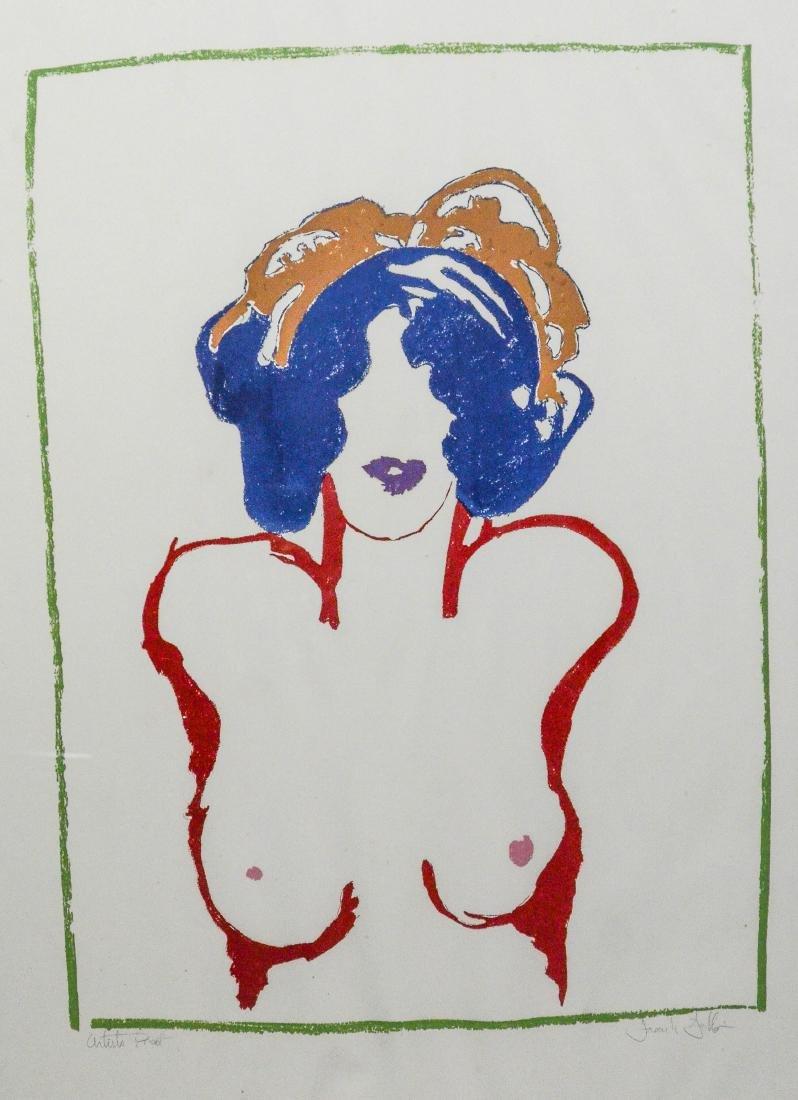 Frank Gallo, serigraph print of a female nude
