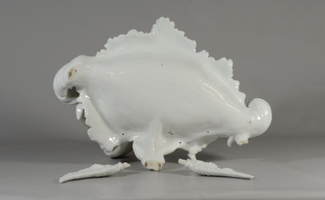 Italian white glazed pottery allegorical bowl of 'Cu - 7