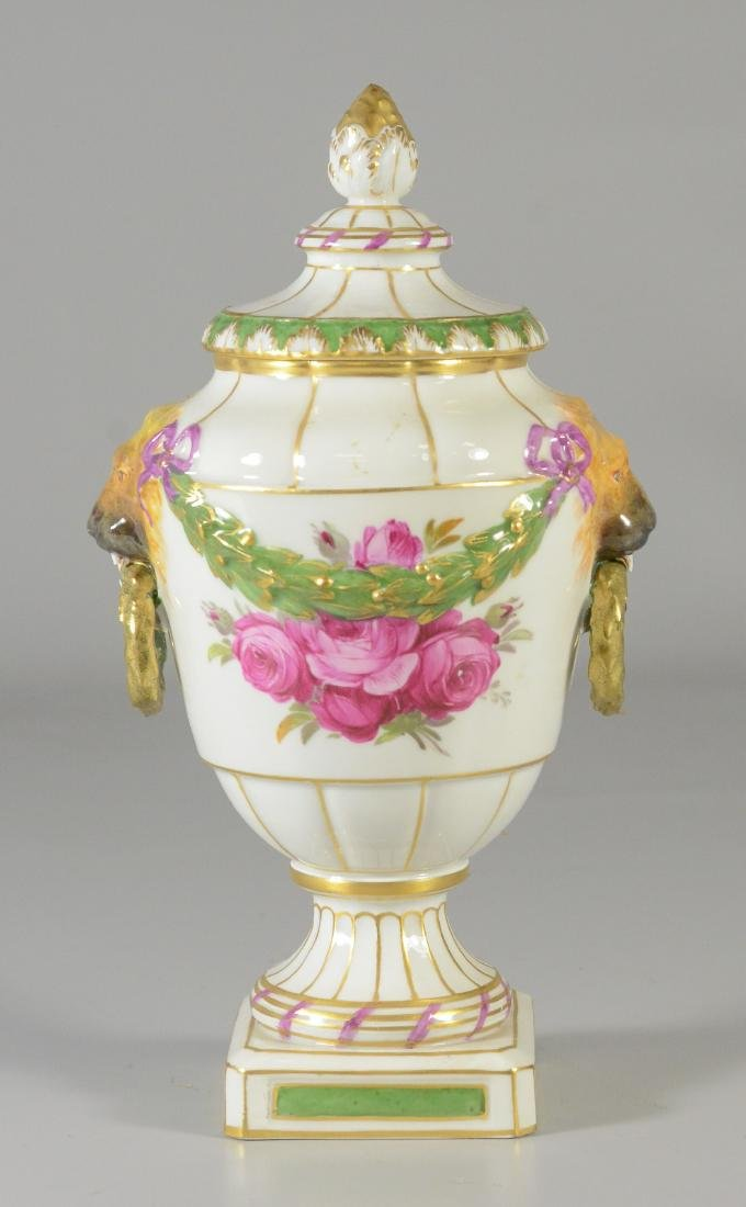 Berlin porcelain covered urn, early 20th C