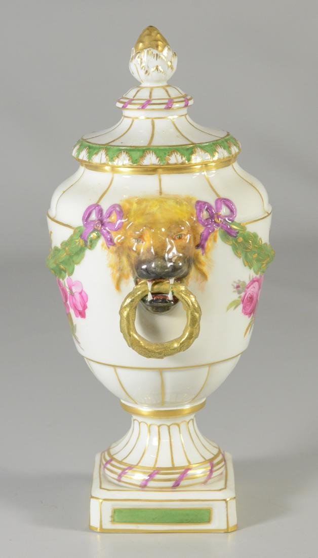 Berlin porcelain covered urn, early 20th C - 2