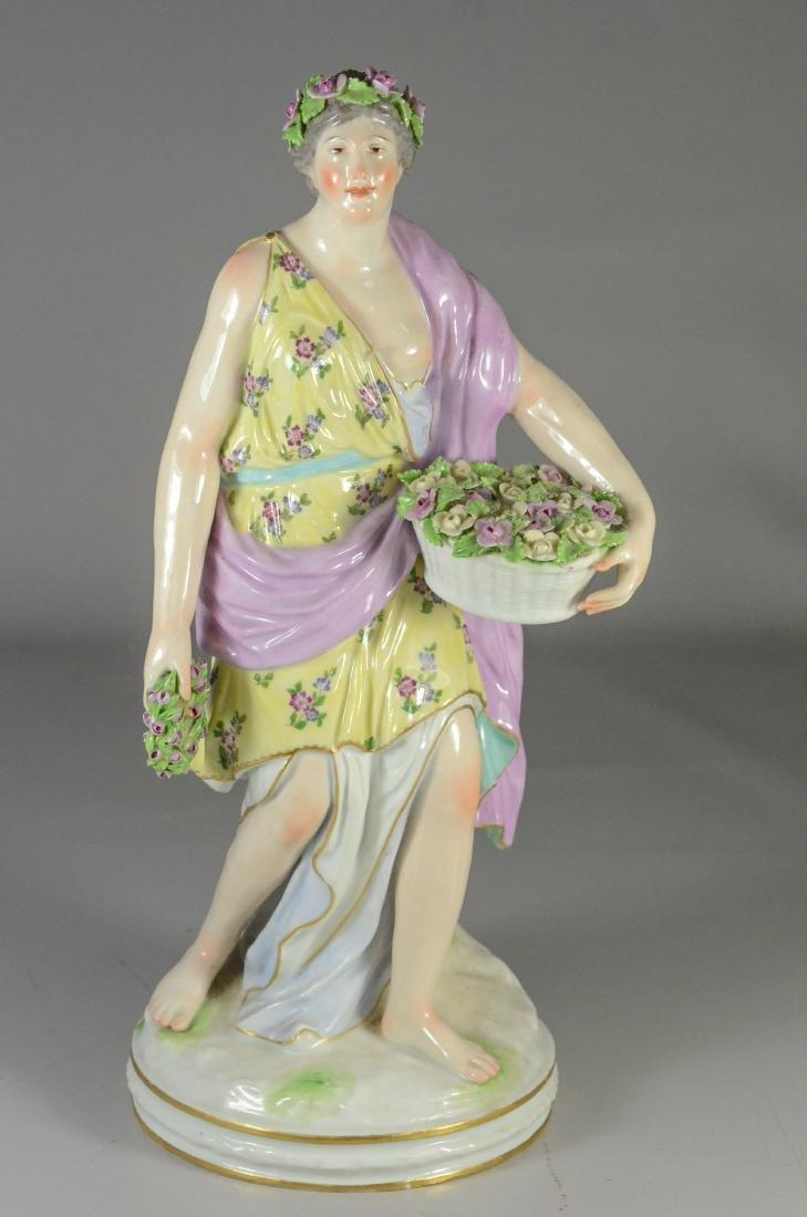Berlin (KPM) porcelain allegorical figure of 'Spring