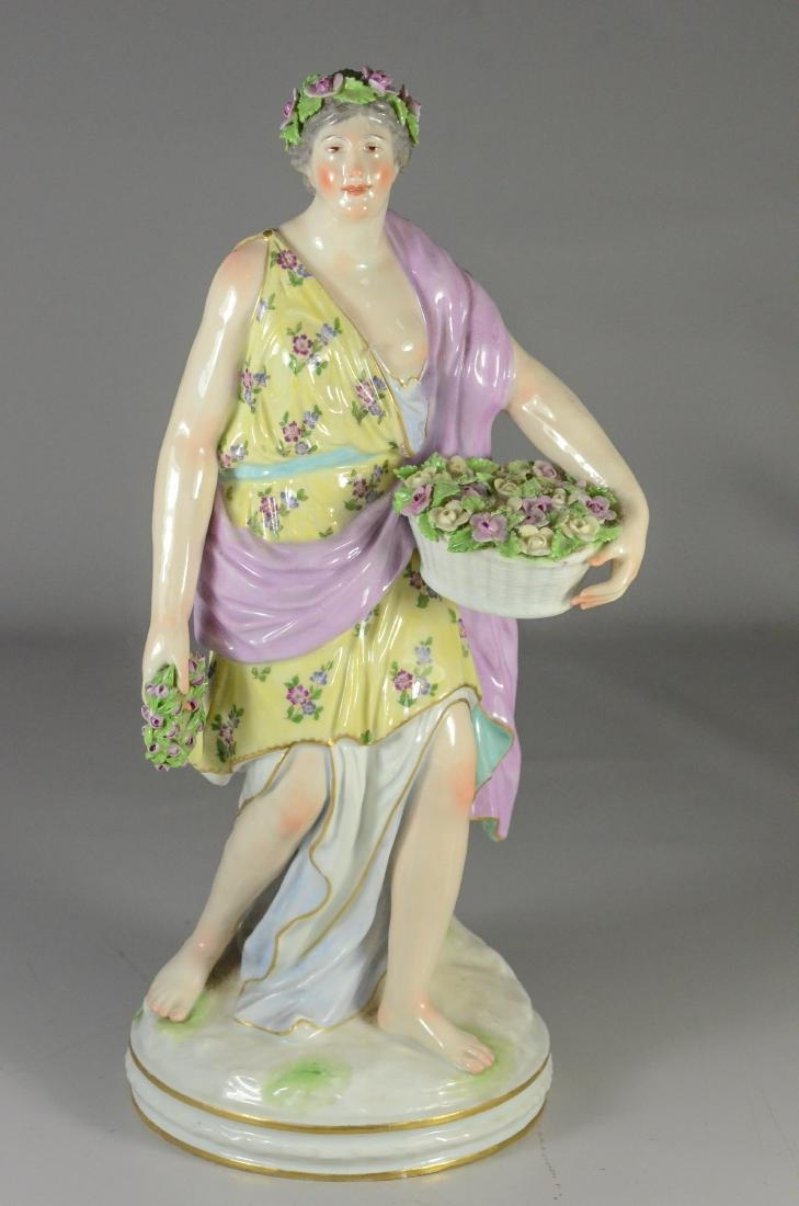 Berlin (KPM) porcelain allegorical figure of 'Spring