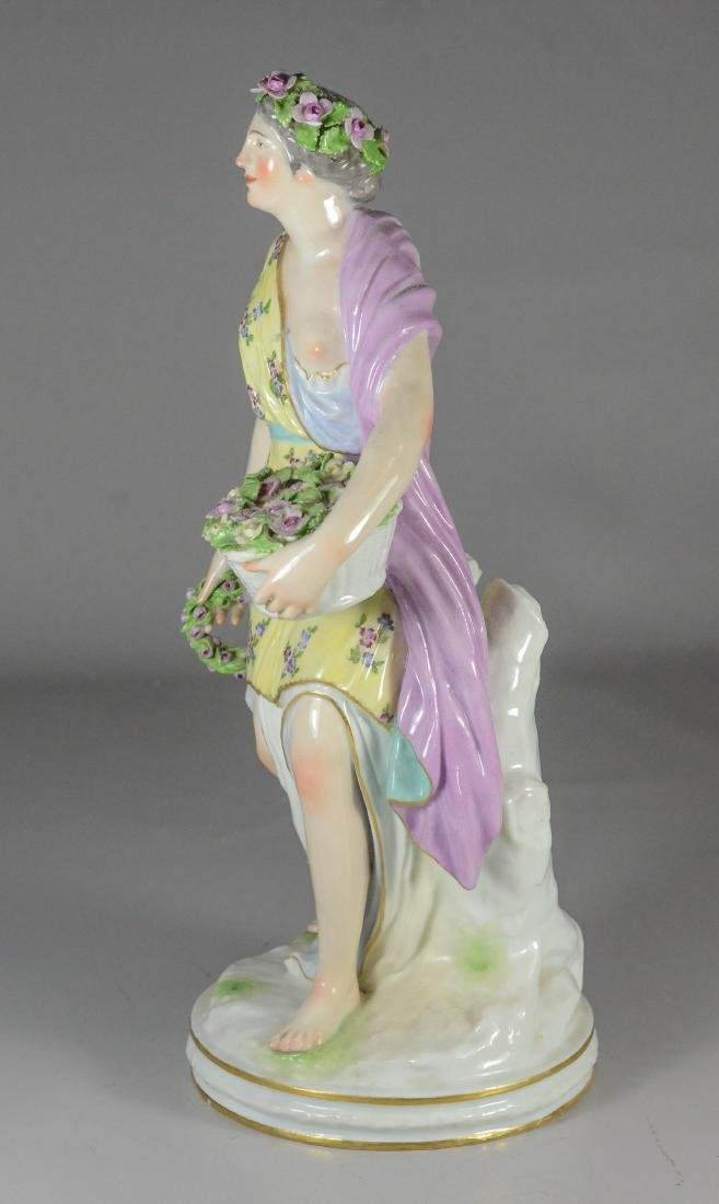 Berlin (KPM) porcelain allegorical figure of 'Spring - 2