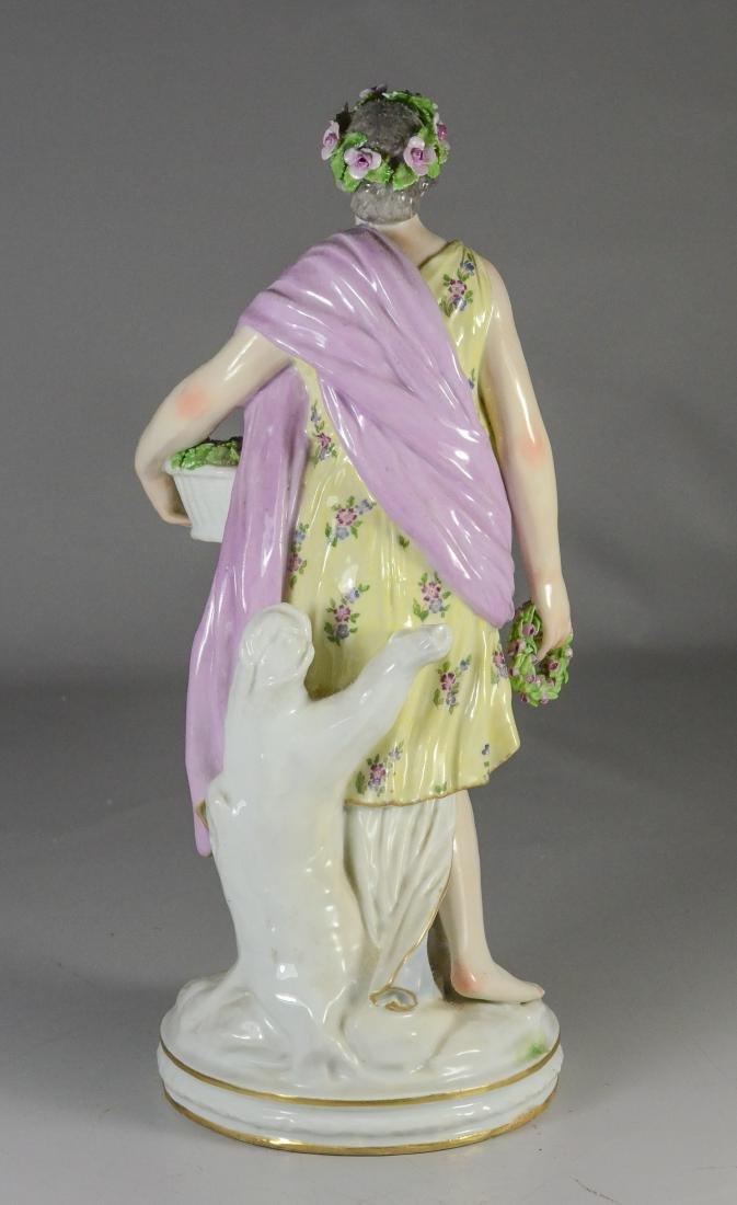 Berlin (KPM) porcelain allegorical figure of 'Spring - 3