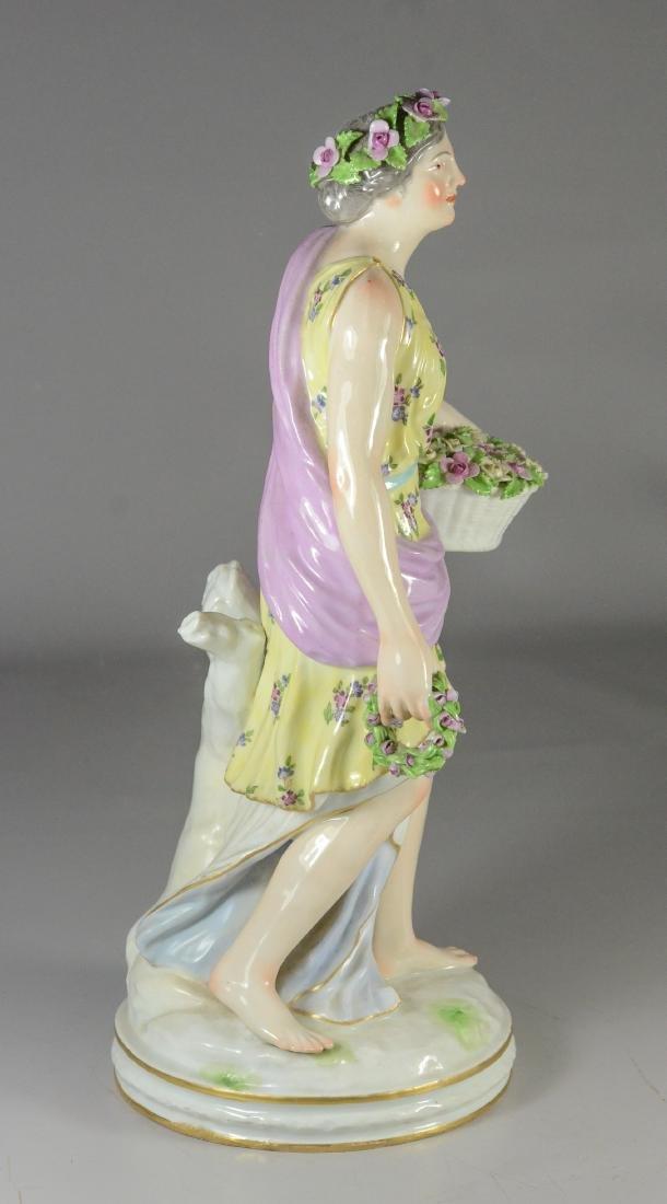 Berlin (KPM) porcelain allegorical figure of 'Spring - 4