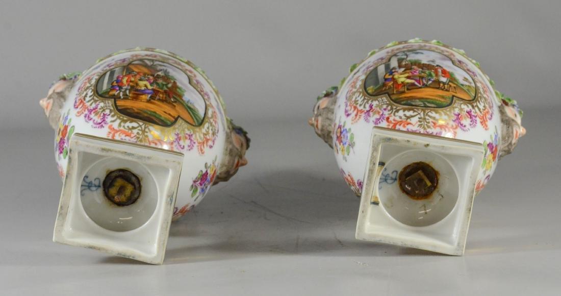 Pair of Dresden porcelain cassoulets, Helena Wolfsohn - 3