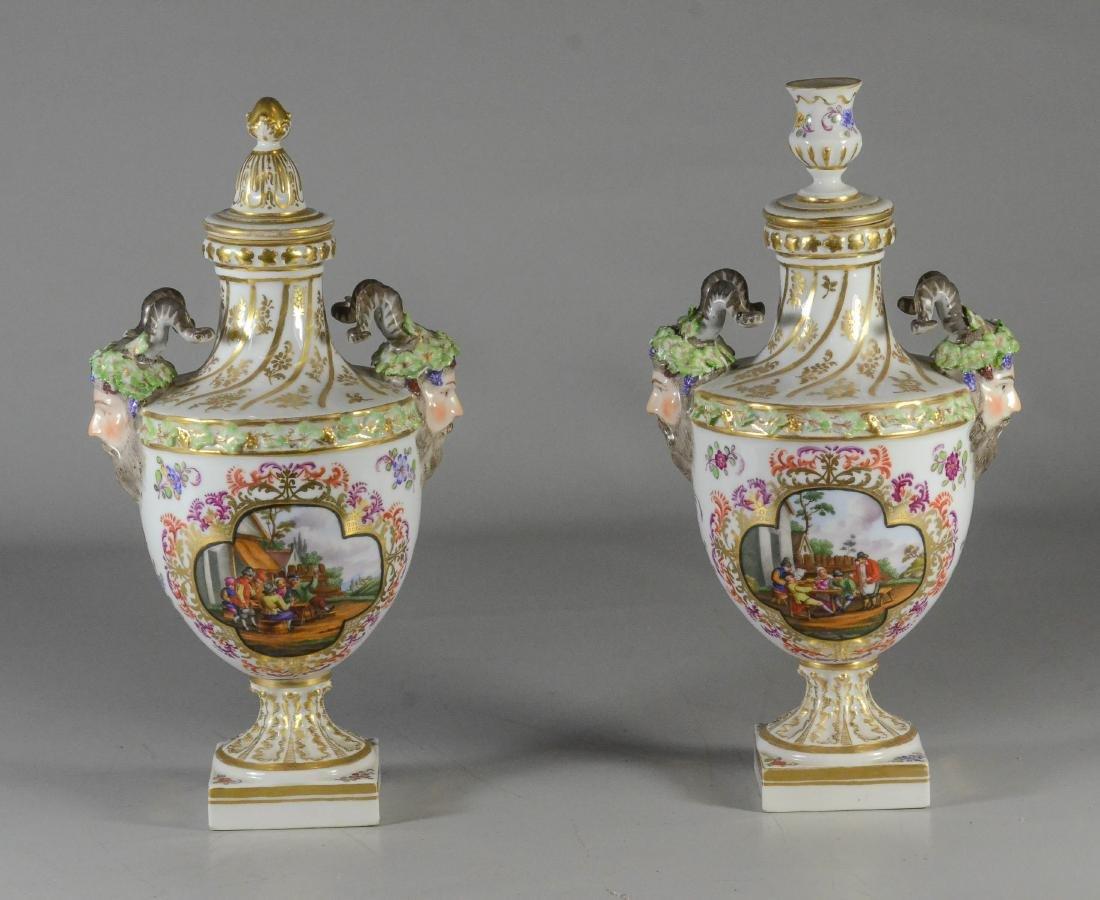 Pair of Dresden porcelain cassoulets, Helena Wolfsohn - 5