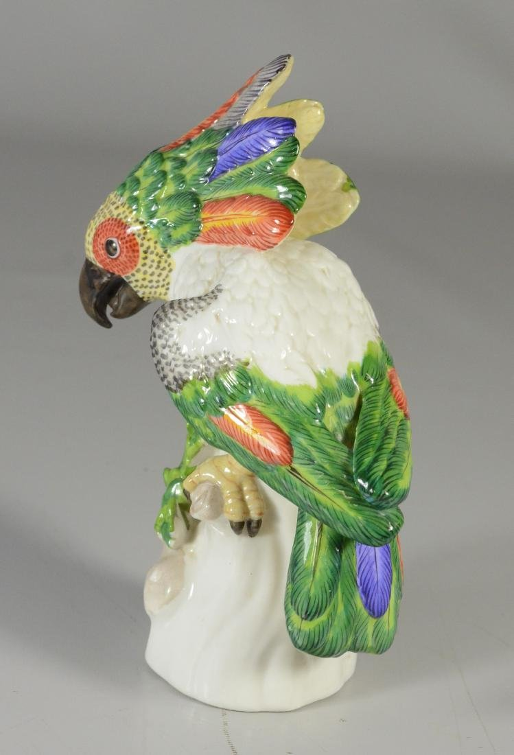 Nymphenburg porcelain figure of a cockatoo, 20th C - 2