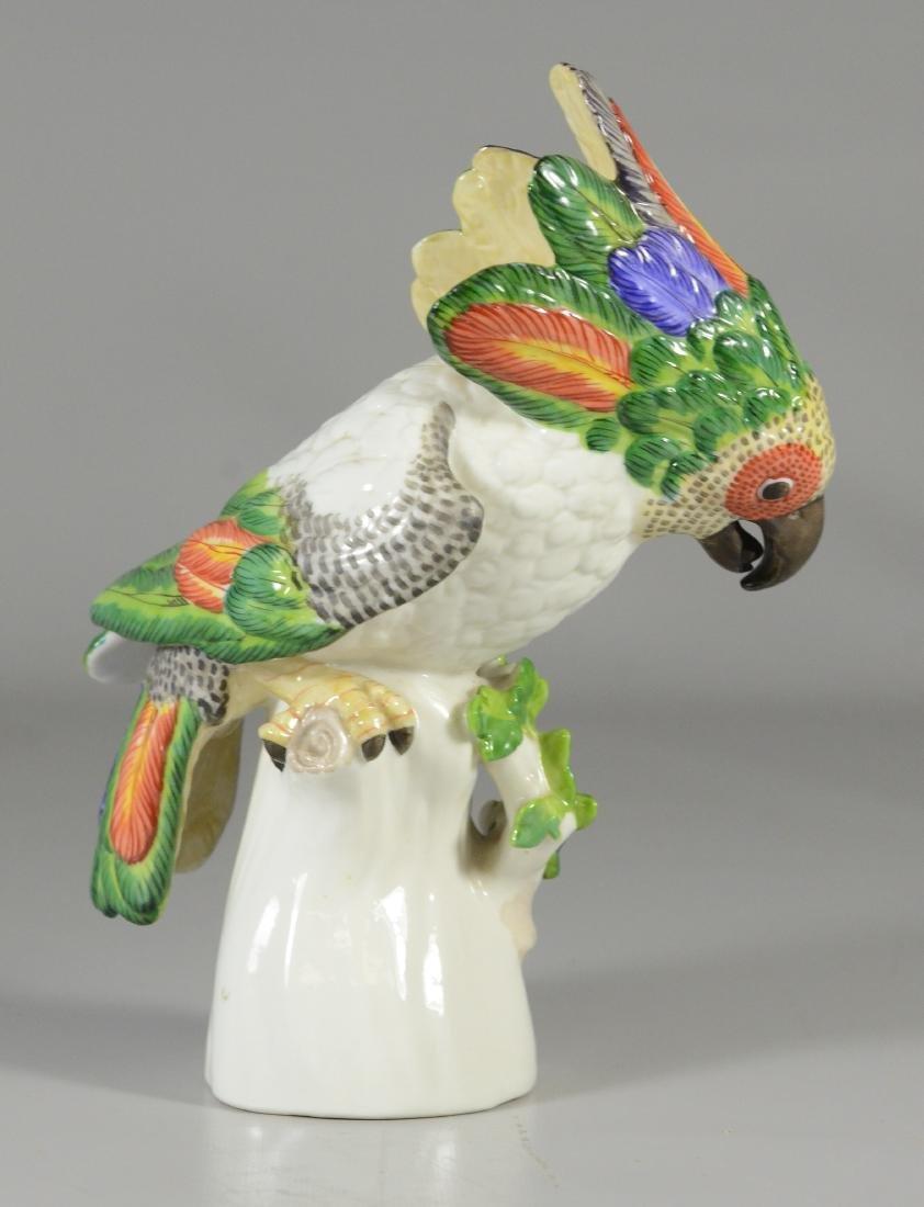 Nymphenburg porcelain figure of a cockatoo, 20th C - 3