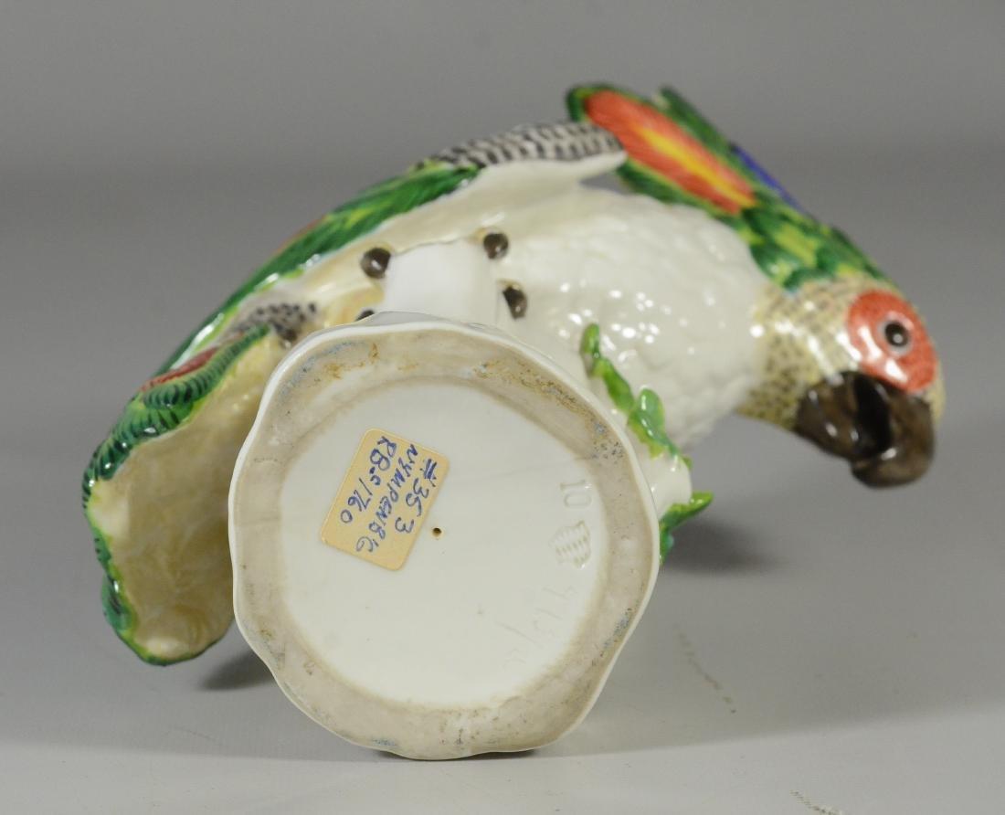 Nymphenburg porcelain figure of a cockatoo, 20th C - 4