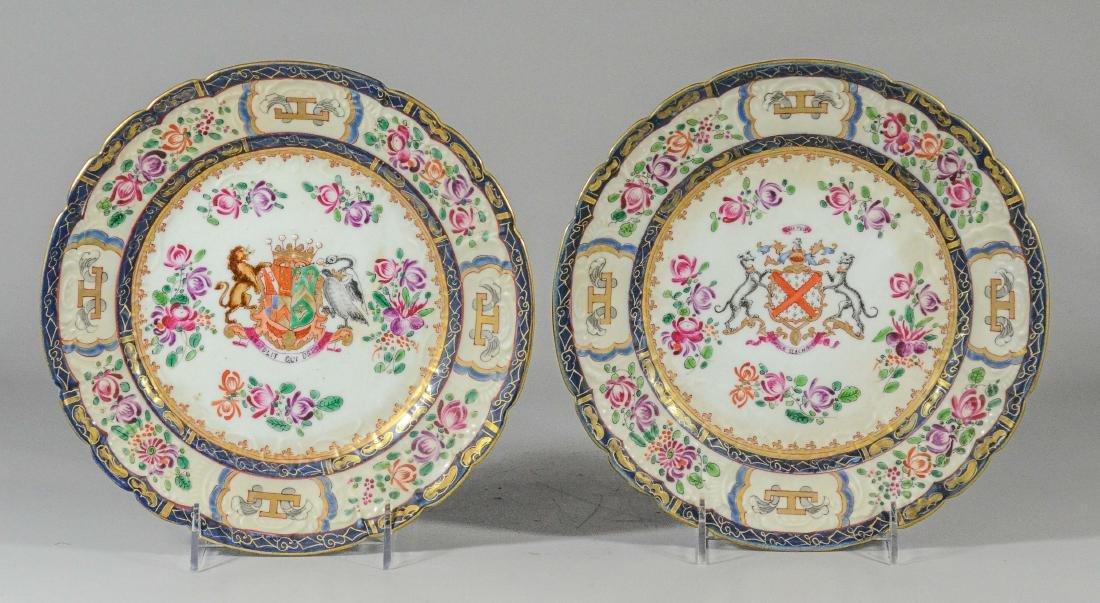Pr Samson porcelain Asian style armorial plates