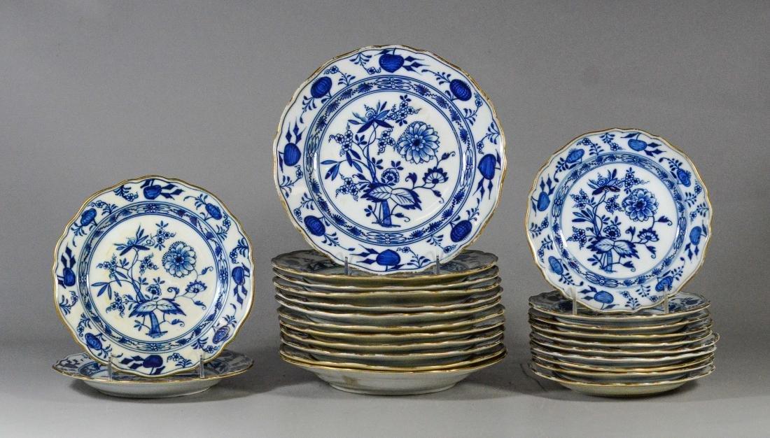 (24) Meissen Blue Onion pattern plates