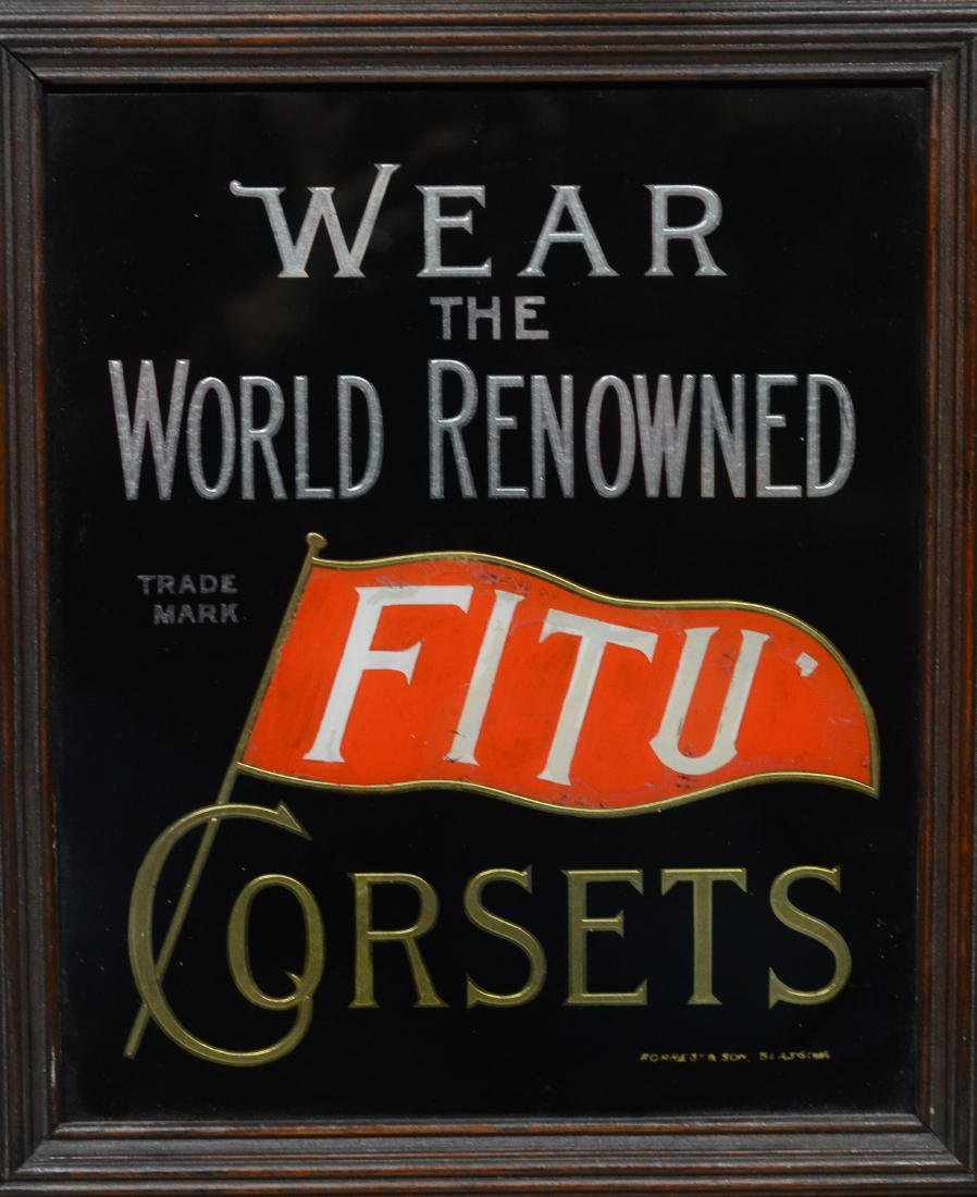 """FitU Corsets"" advertising wall clock, time only - 3"