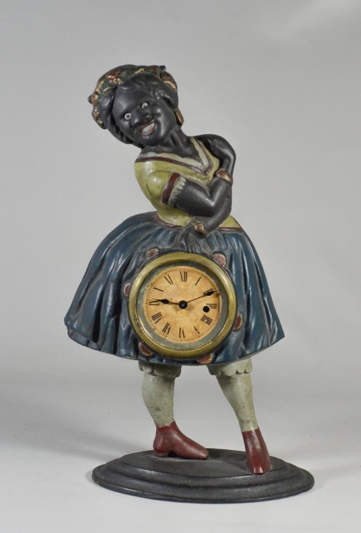 "Cast iron Topsy ""Blinking Eye"" Clock"