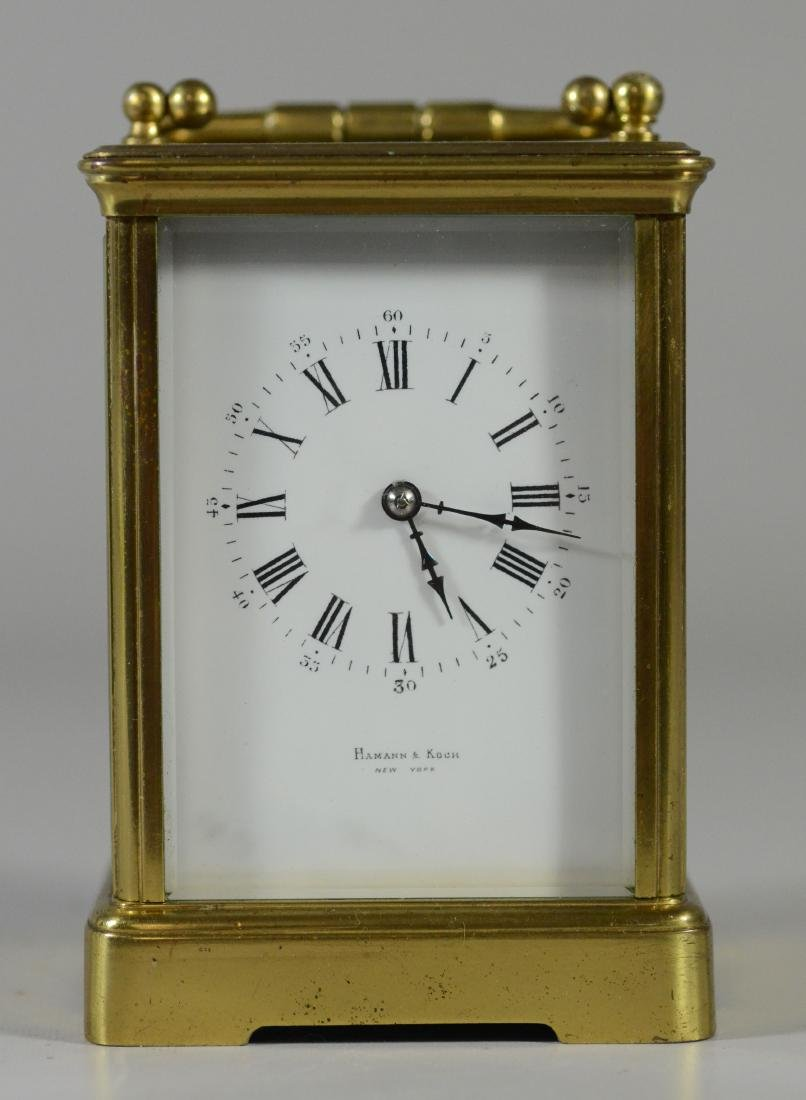 French carriage clock, time and hour/half hour strike
