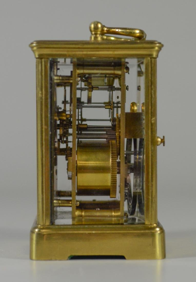 French carriage clock, time and hour/half hour strike - 4