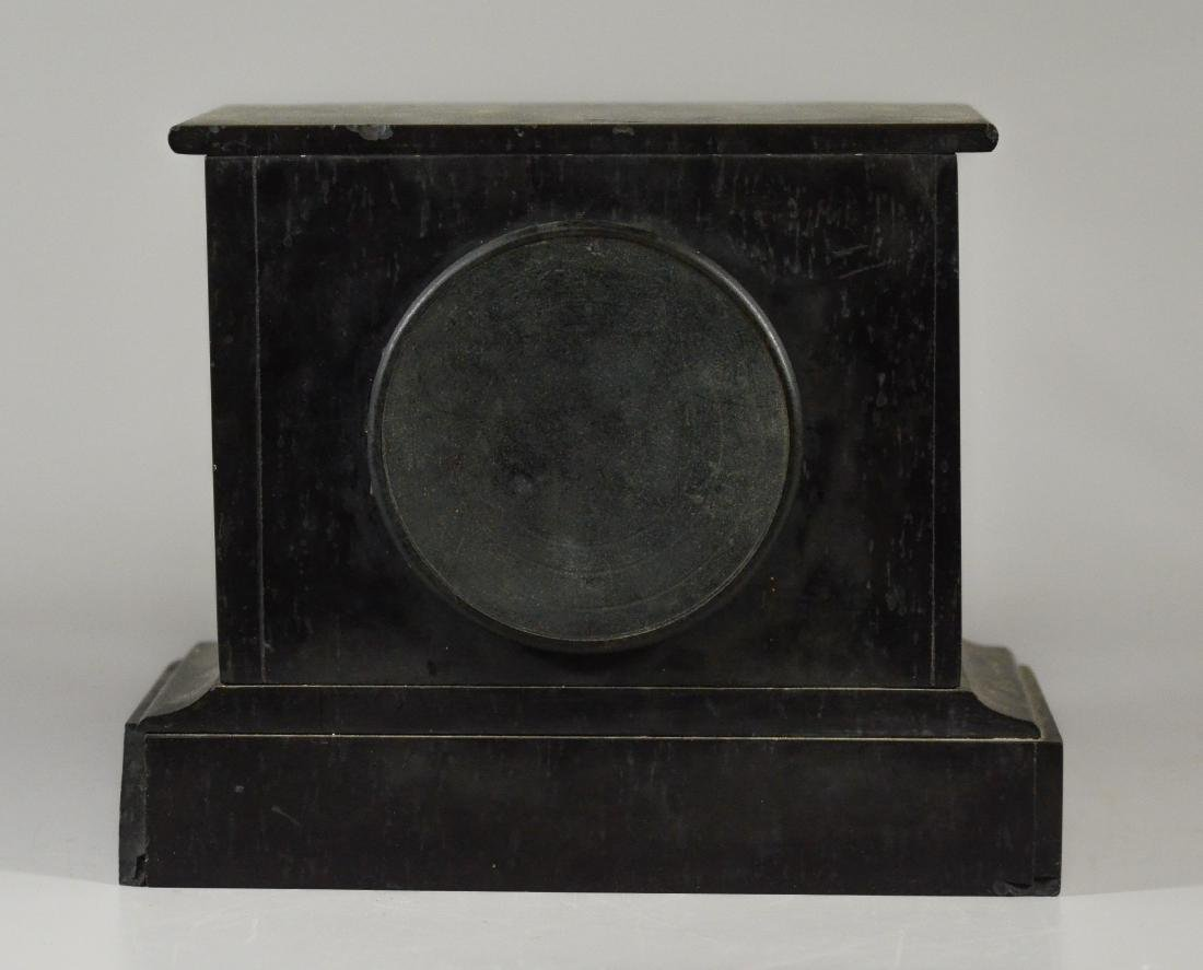 French Black Marble mantle clock - 4