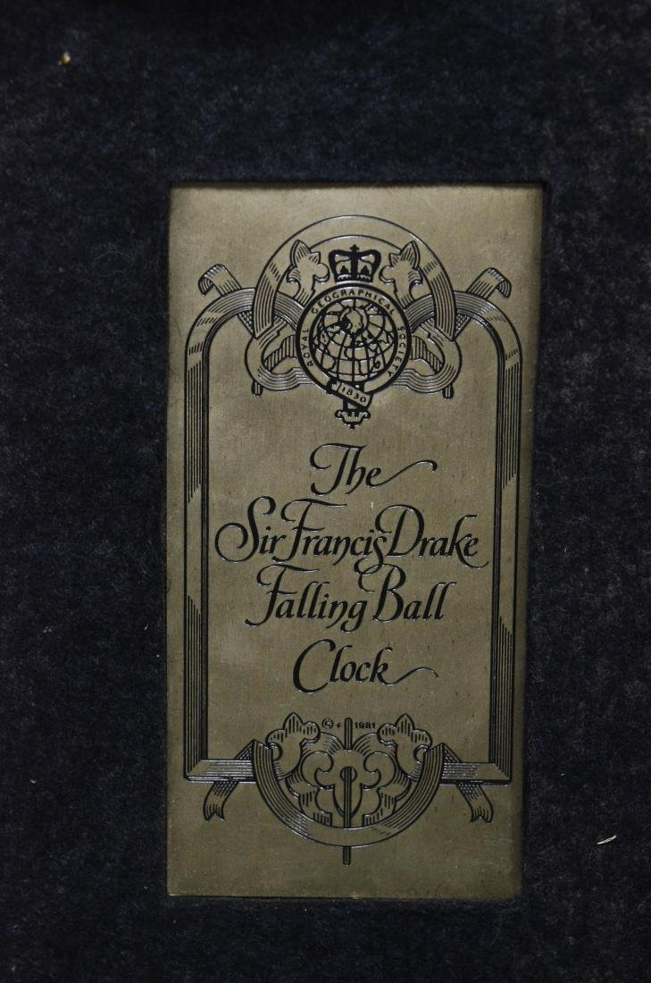 Sir Francis Drake Falling Ball Clock - 3