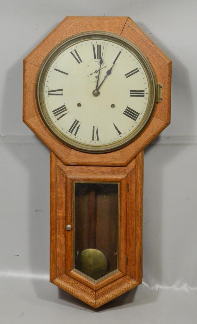 "Seth Thomas Clock Co  ""Globe"" 8-day time and strike"