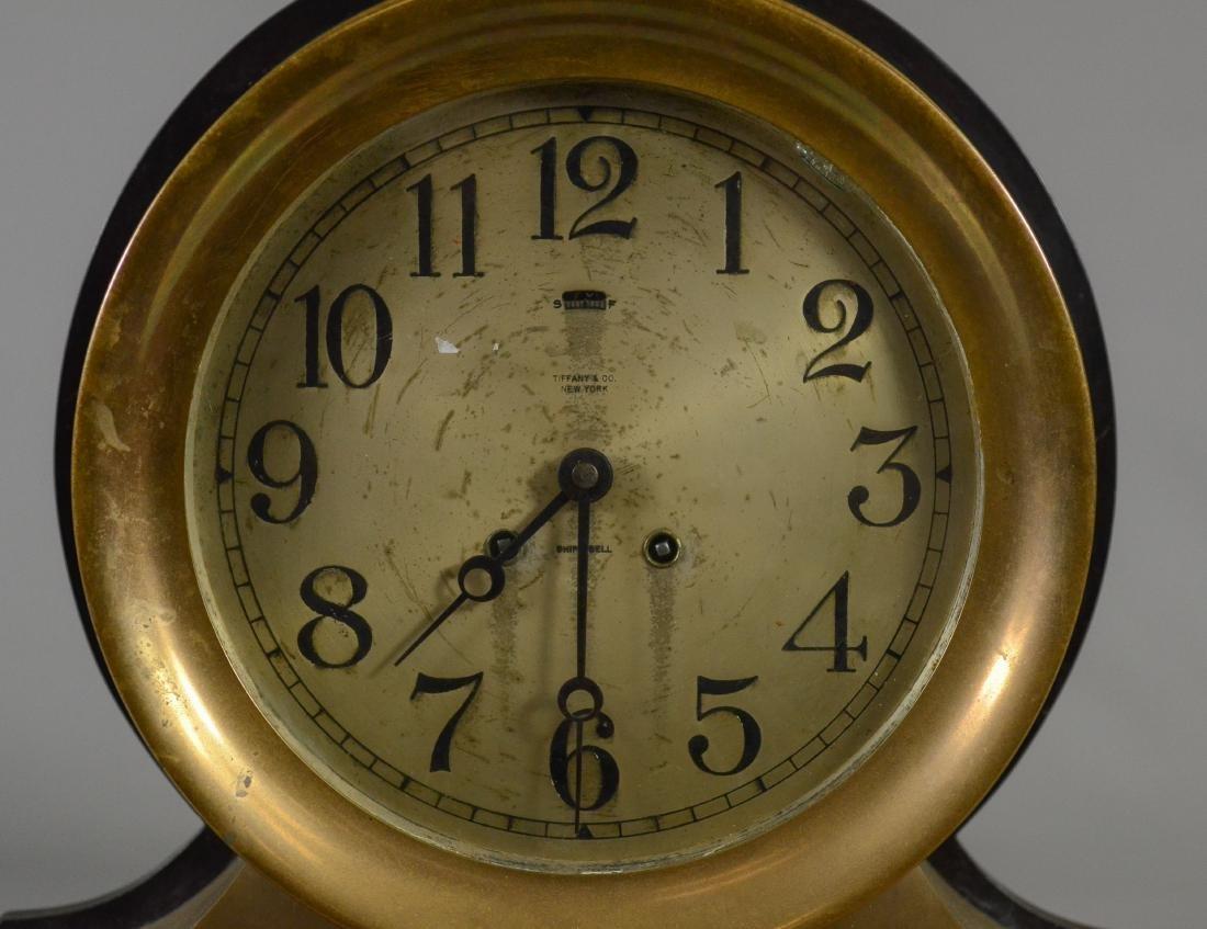 Tiffany & Co Chelsea brass ships clock - 12
