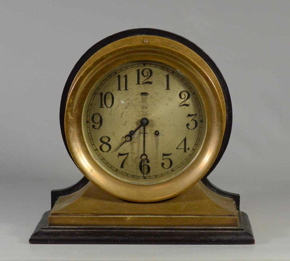 Tiffany & Co Chelsea brass ships clock