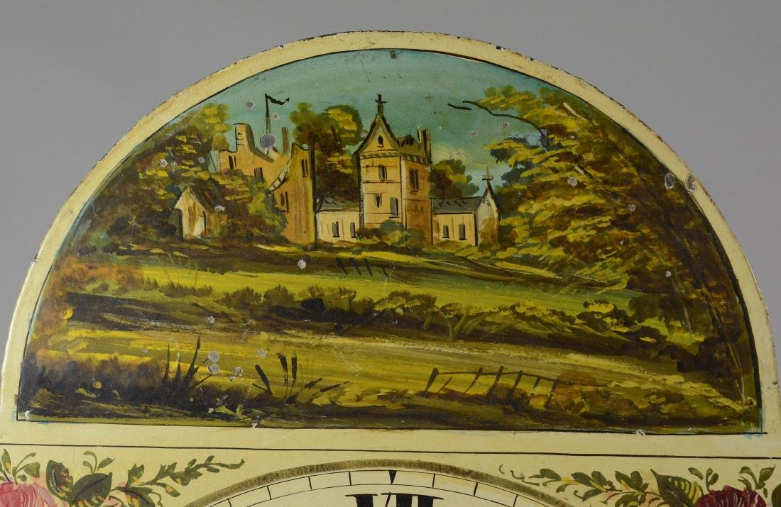 Brass 8 day tall clock movement, painted dial - 3