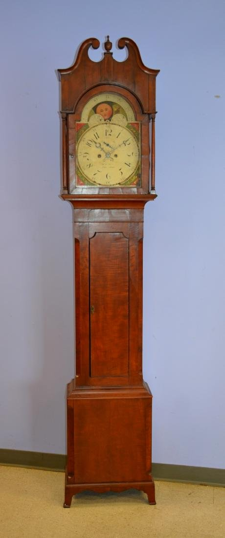 Cherry Isaac Reed, Frankford, PA tall case clock