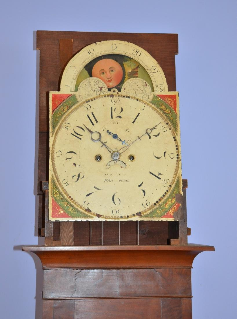 Cherry Isaac Reed, Frankford, PA tall case clock - 2