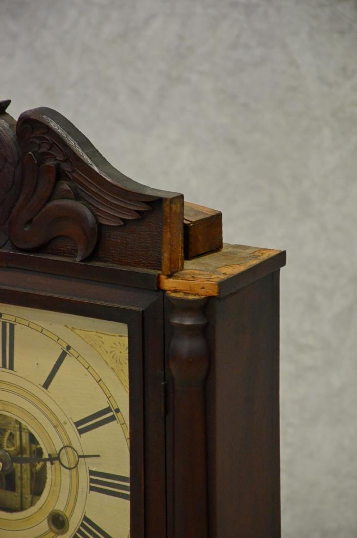 Birge Mallory & Company Carved Mahogany Shelf Clock - 2