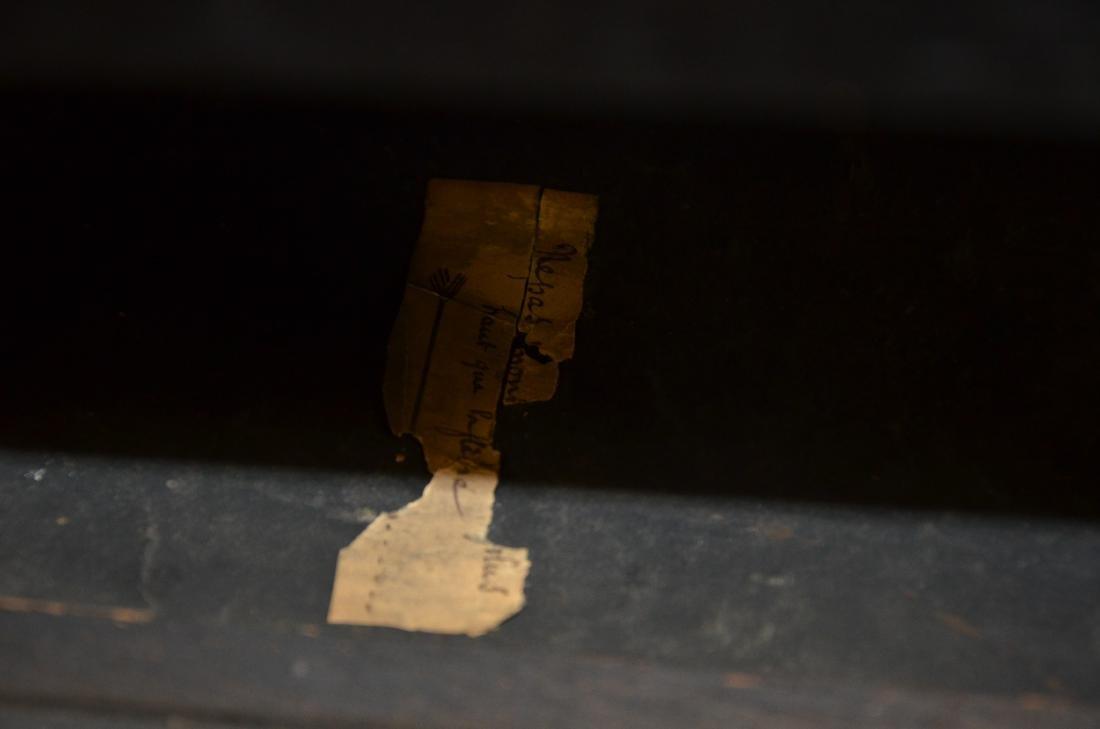 Regency Mahogany Floor Clock; long slender pedestal - 10
