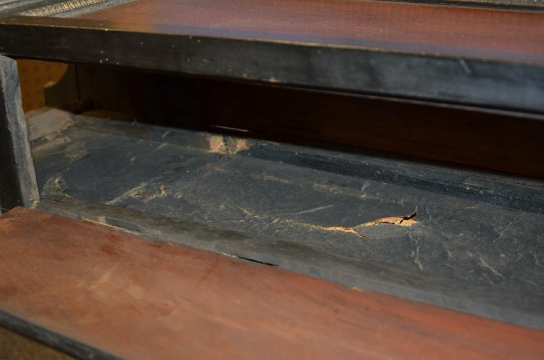 Regency Mahogany Floor Clock; long slender pedestal - 12