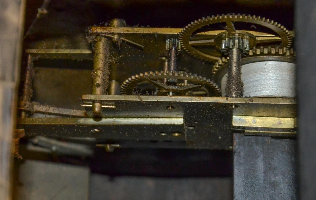 Regency Mahogany Floor Clock; long slender pedestal - 6