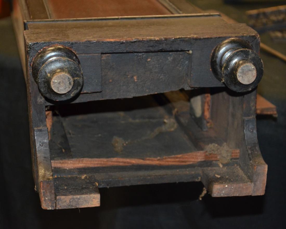 Regency Mahogany Floor Clock; long slender pedestal - 9