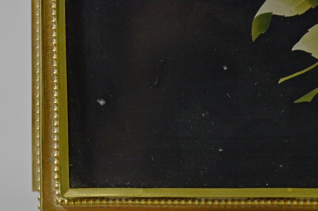 Victorian brass and pietra dura hinged trinket box - 5