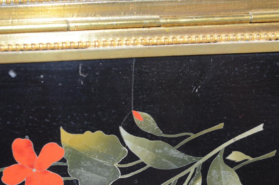 Victorian brass and pietra dura hinged trinket box - 8