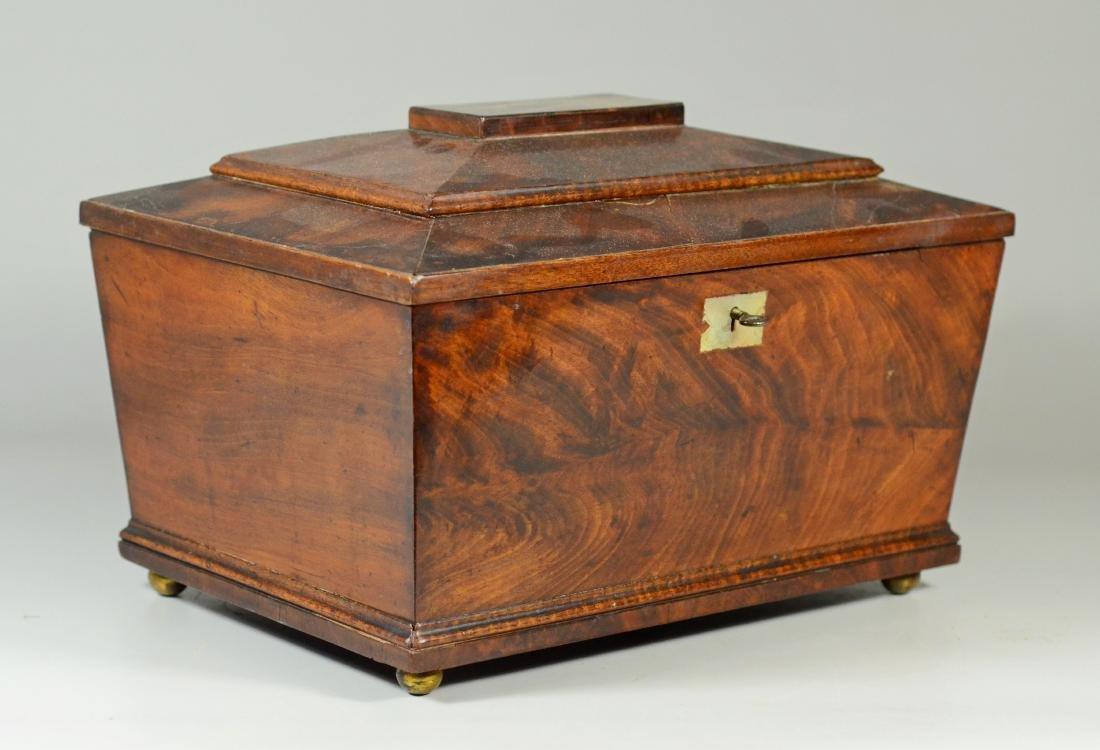 Mahogany sarcophagus form sewing box