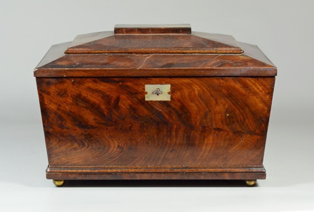 Mahogany sarcophagus form sewing box - 2