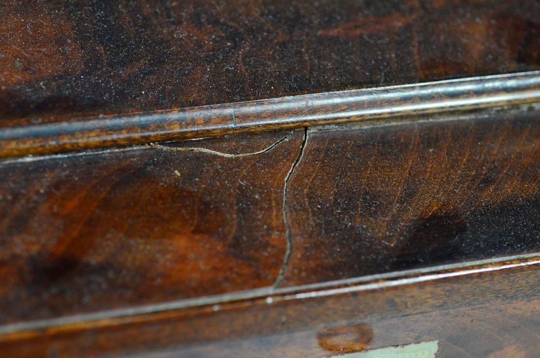 Mahogany sarcophagus form sewing box - 4