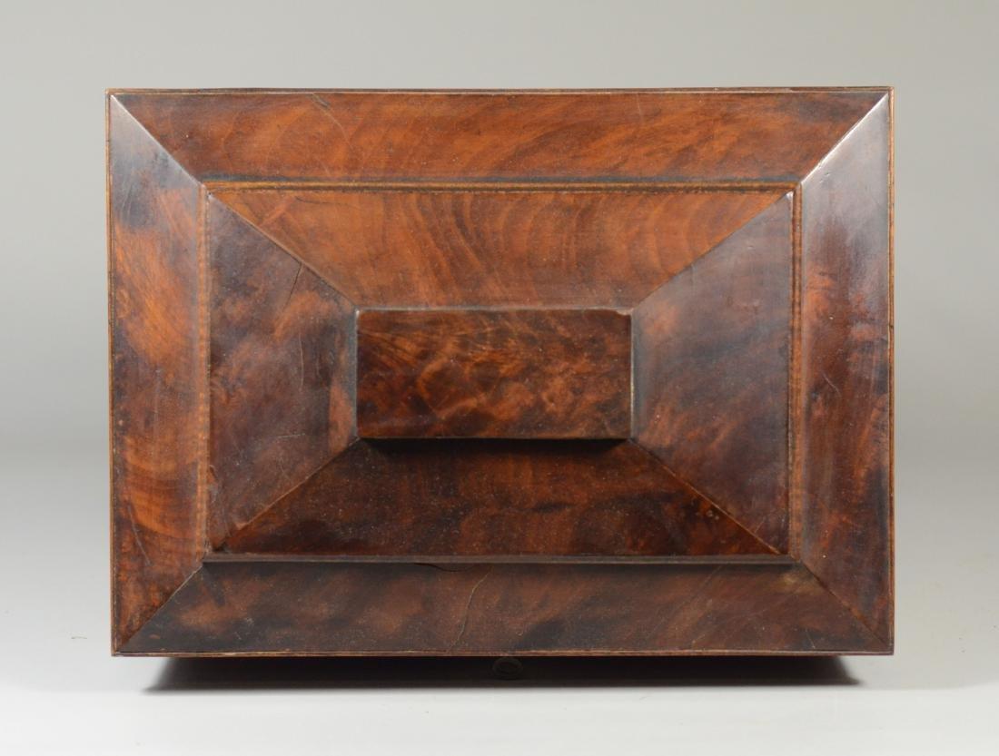 Mahogany sarcophagus form sewing box - 5