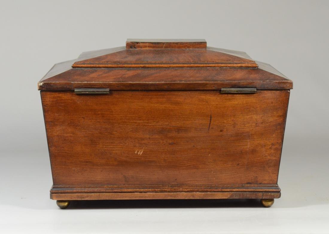 Mahogany sarcophagus form sewing box - 6