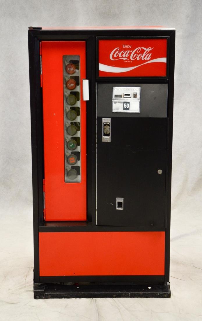 """Vintage """"Cavalier"""" 50 cent Coca Cola vending machine"""