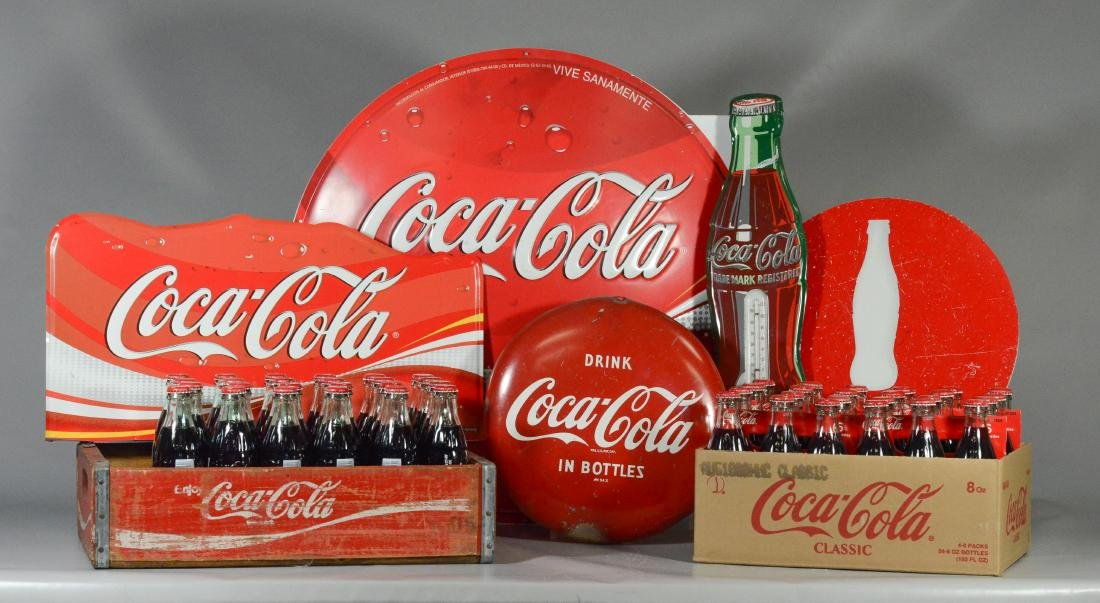 Collection of assorted Coca Cola collectibles