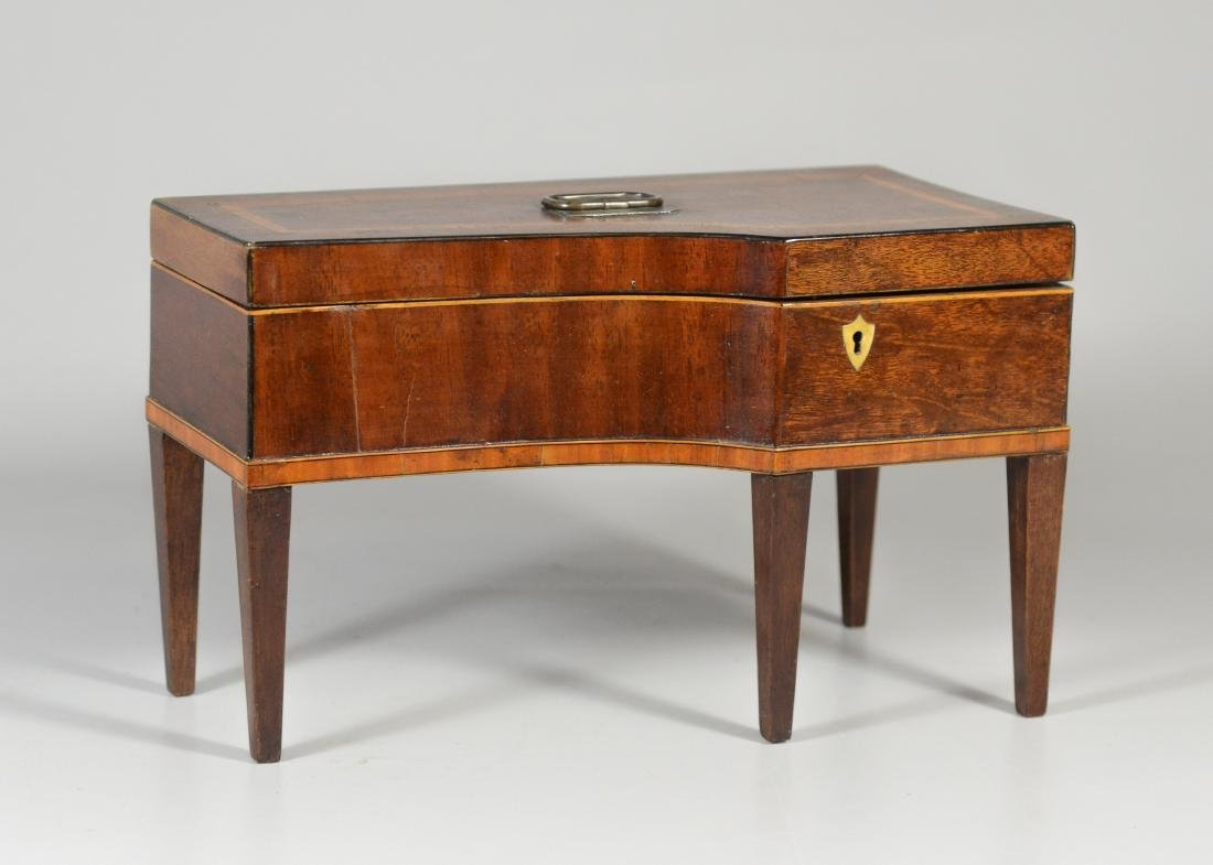 Inlaid mahogany console piano form jewelry box