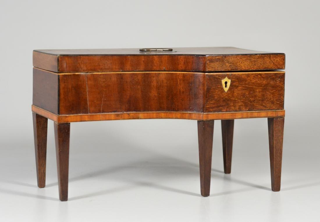 Inlaid mahogany console piano form jewelry box - 2