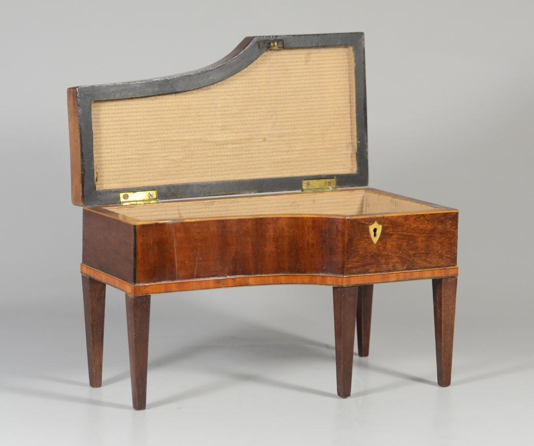 Inlaid mahogany console piano form jewelry box - 3