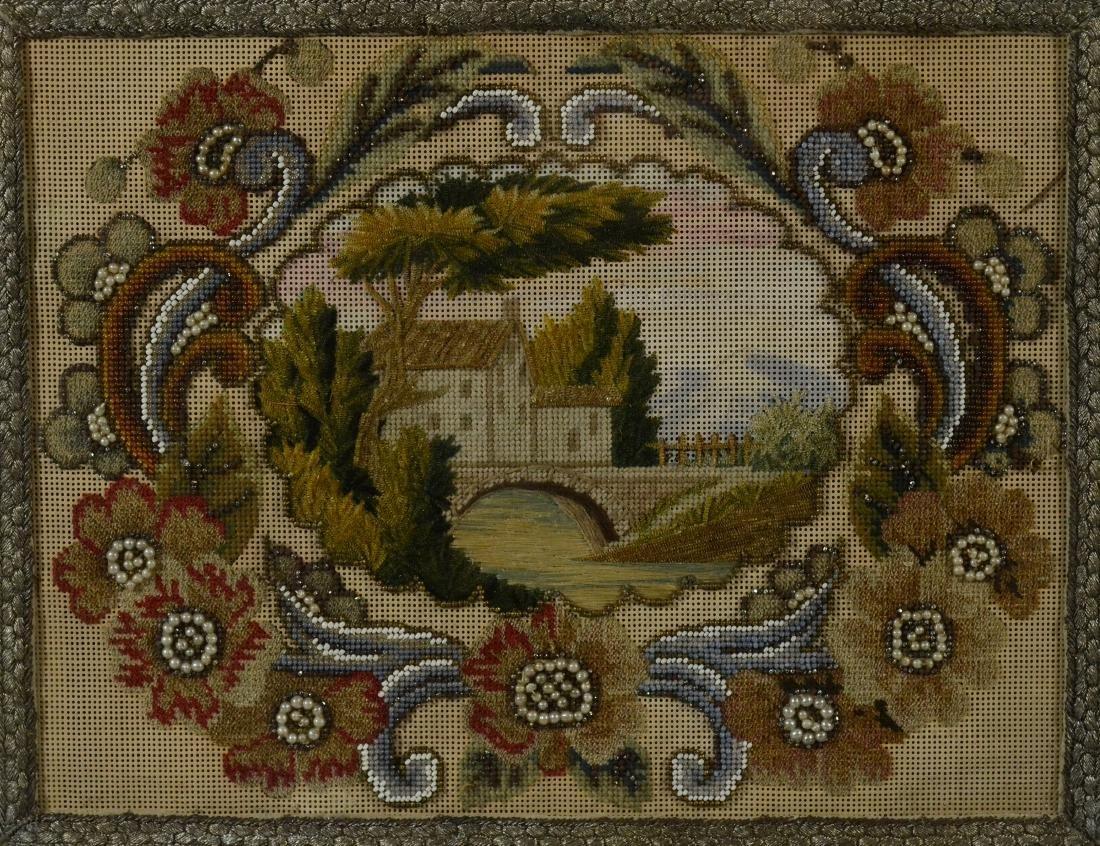 19th Century Needlepoint and Beadwork Panel - 2